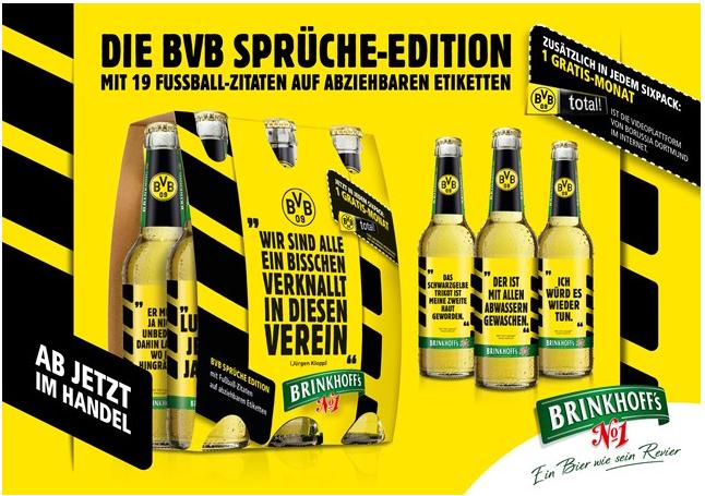 Brinkhoff's No.1 bringt BVB-Sprüche aufs Etikett