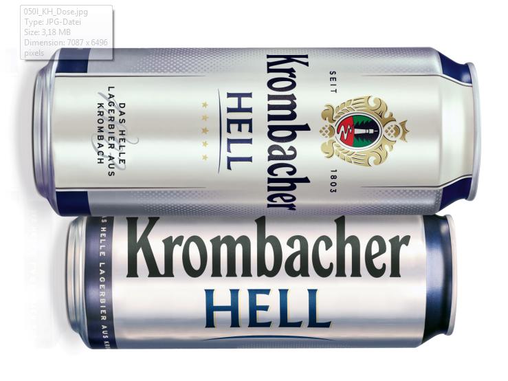 Krombacher Hell ab sofort auch in der großen Dose