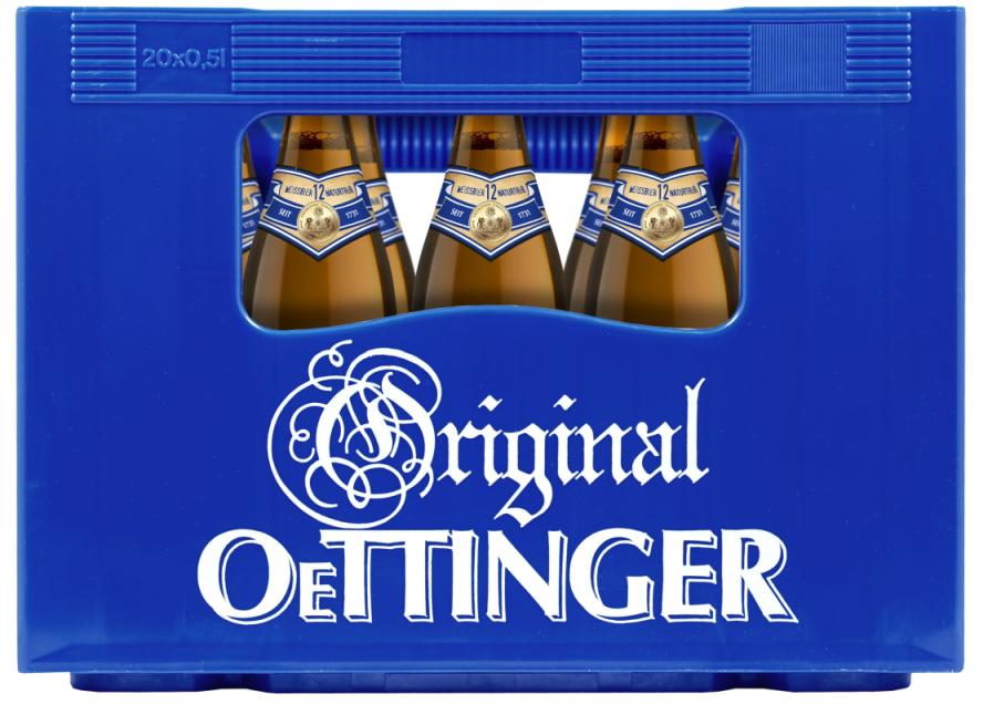Neuzugang im Biersortiment: Oettinger Weissbier 12